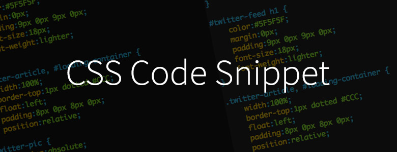 CSS Code Snippet
