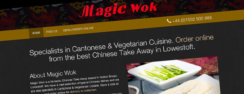Magic Wok website completed
